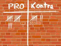 Backsteinwand Pro und Kontra